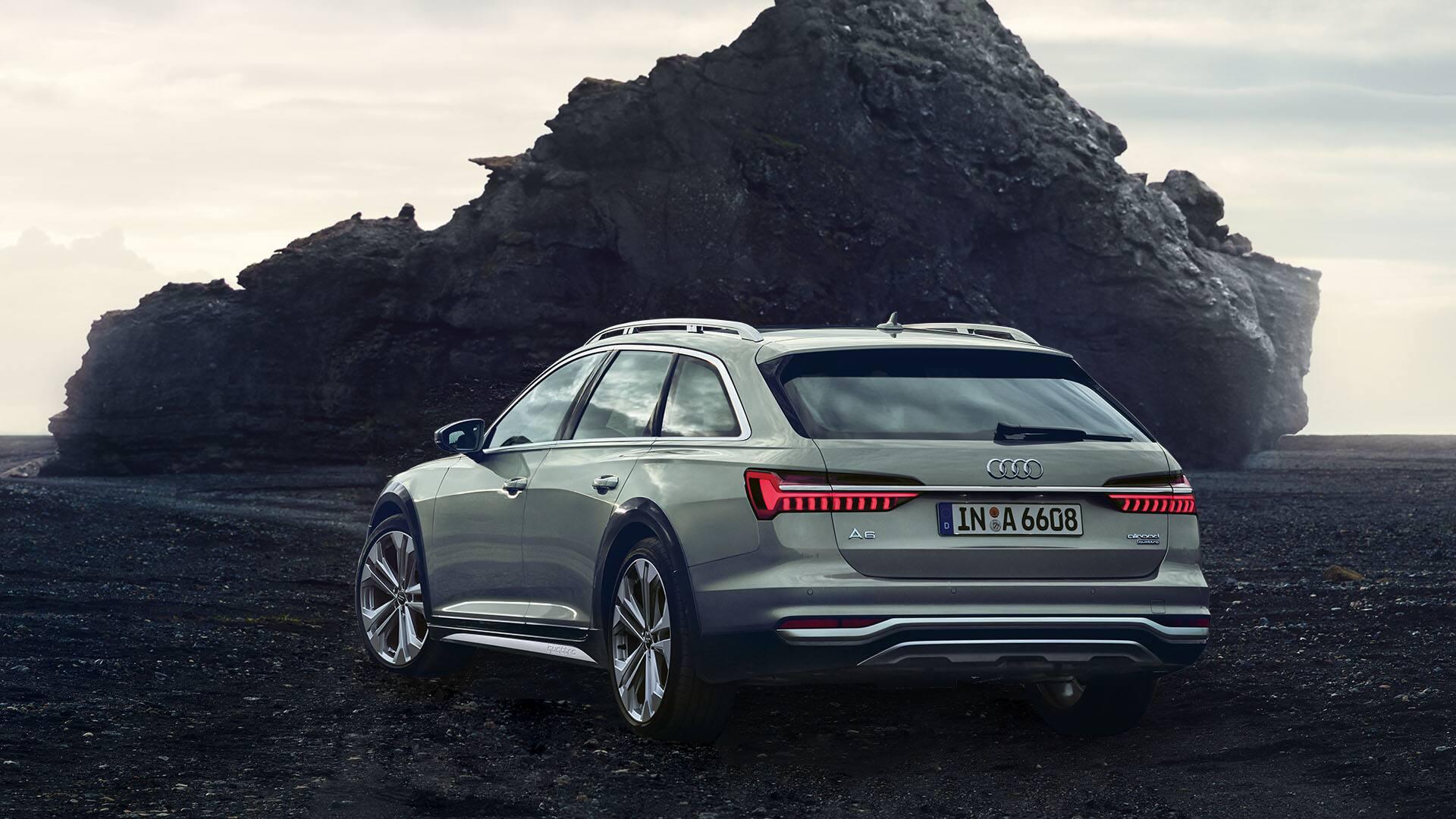 Rear view Audi A6 allroad quattro