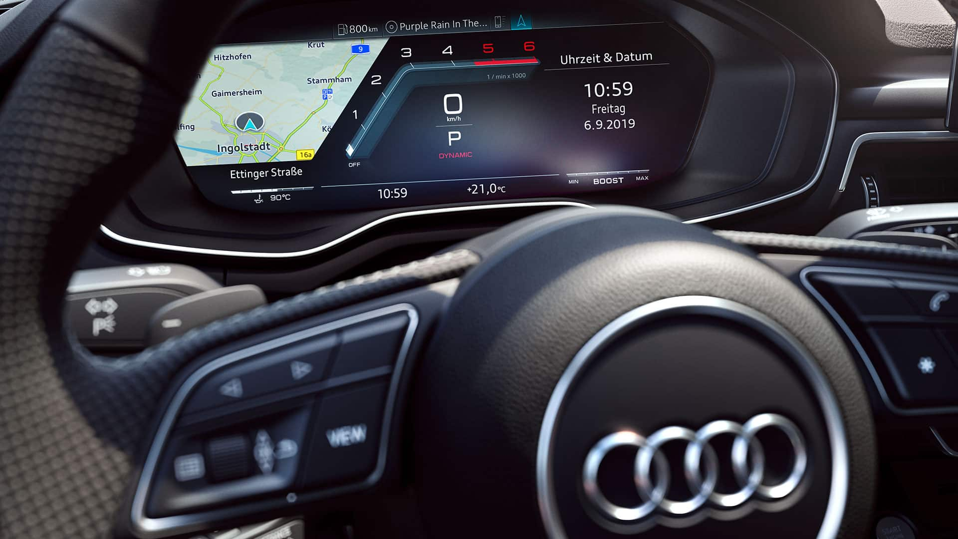Audi virtual cockpit im Audi S5 Coupé TDI