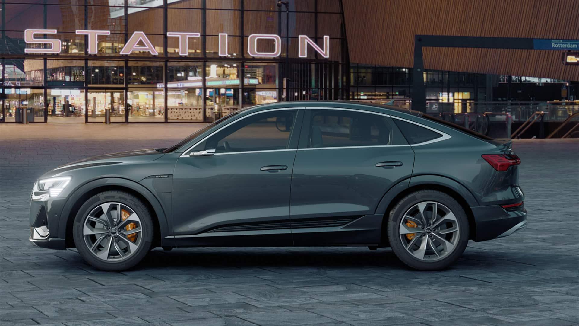 Heckansicht Audi e-tron Sportback